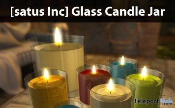 New Release: Glass Candle Jar by [satus Inc] - Teleport Hub - teleporthub.com