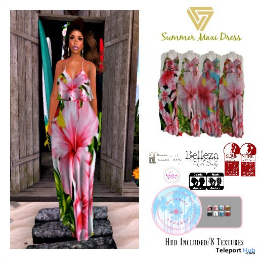 Summer Maxi Dress June 2018 Group Gift by Sevyn East - Teleport Hub - teleporthub.com