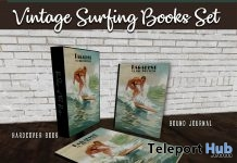 Vintage Surfing Books Set July 2018 Group Gift by The Vintage Touch - Teleport Hub - teleporthub.com