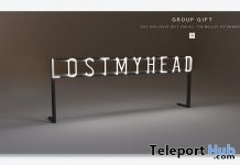 Lost My Head Sign July 2018 Group Gift by MULLOY - Teleport Hub - teleporthub.com