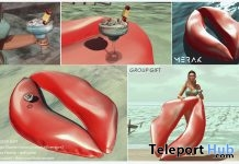 Lips Floatie and Cocktail July 2018 Group Gift by Merak - Teleport Hub - teleporthub.com