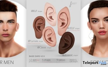 Mesh Basic Ears v2.0 July 2018 Group Gift by ZGURSKY - Teleport Hub - teleporthub.com