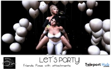 Let's Party Friends Pose July 2018 Group Gift by Something New - Teleport Hub - teleporthub.com
