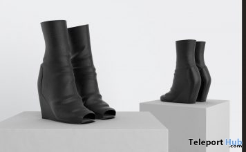 New Release: Xenia Open-Toe Wedge Boots Fatpack by Bueri @ Shiny Shabby July 2018 - Teleport Hub - teleporthub.com