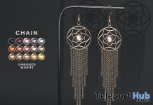 Catcher Earrings July 2018 Group Gift by CHAIN - Teleport Hub - teleporthub.com