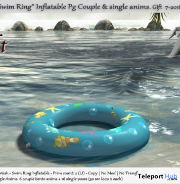Swim Ring Inflatable PG July 2018 Group Gift by Tm Creation - Teleport Hub - teleporthub.com