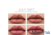 Lipsticks For Catwa & Lelutka Head July 2018 Group Gift by Lisa Walker Makeup - Teleport Hub - teleporthub.com