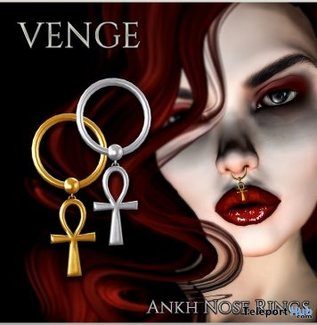 Ankh Nose Rings The Underdog Event July 2018 Haft Time Group Gift by VENGE - Teleport Hub - teleporthub.com