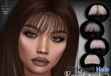 Hair Bangs Pack 5 July 2018 Group Gift by Sintiklia - Teleport Hub - teleporthub.com