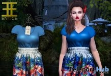 Pollyanna Flower Patriotic Dress July 2018 Group Gift by ENTICE - Teleport Hub - teleporthub.com