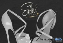 White High Heels July 2018 Group Gift by Selene Creations - Teleport Hub - teleporthub.com