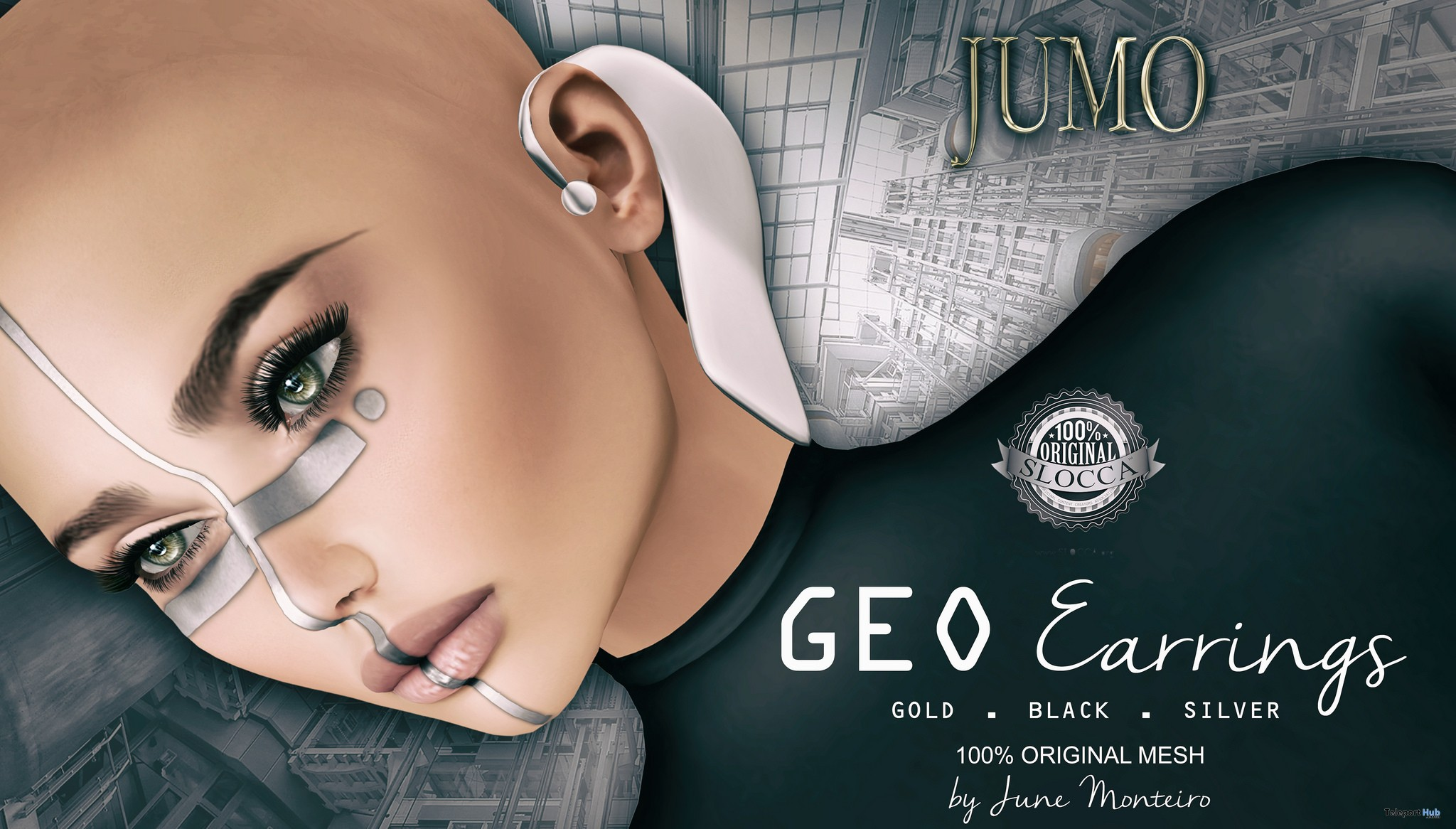GEO Earrings July 2018 Gift by JUMO Originals - Teleport Hub - teleporthub.com