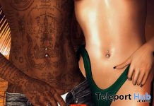 Domyo Belly Piercing Unisex July 2018 Group Gift by FAKEICON - Teleport Hub - teleporthub.com