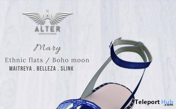 Mary Ethnic Flats Boho Moon Sense Event July 2018 Group Gift by ALTER - Teleport Hub - teleporthub.com