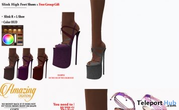 Two High Heels For Slink Feet July 2018 Group Gift by AmAzIng CrEaTiOnS - Teleport Hub - teleporthub.com