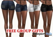 Jean Shorts July 2018 Group Gift by AmAzIng CrEaTiOnS - Teleport Hub - teleporthub.com