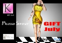 Picasso Summer Dress 1L Promo Gift by Kegel CLothing - Teleport Hub - teleporthub.com