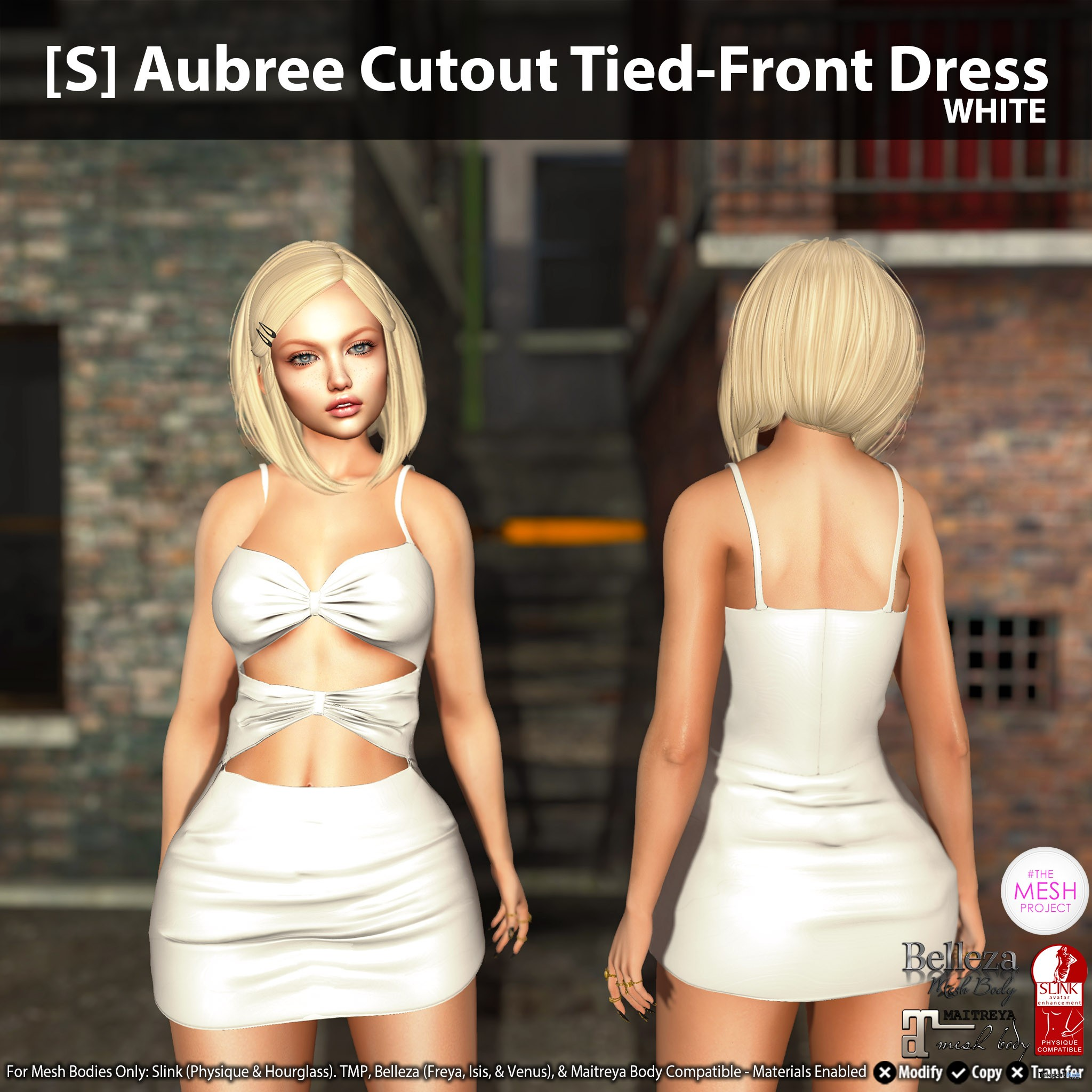 New Release: [S] Aubree Cutout Tied-Front Dress by [satus Inc] - Teleport Hub - teleporthub.com