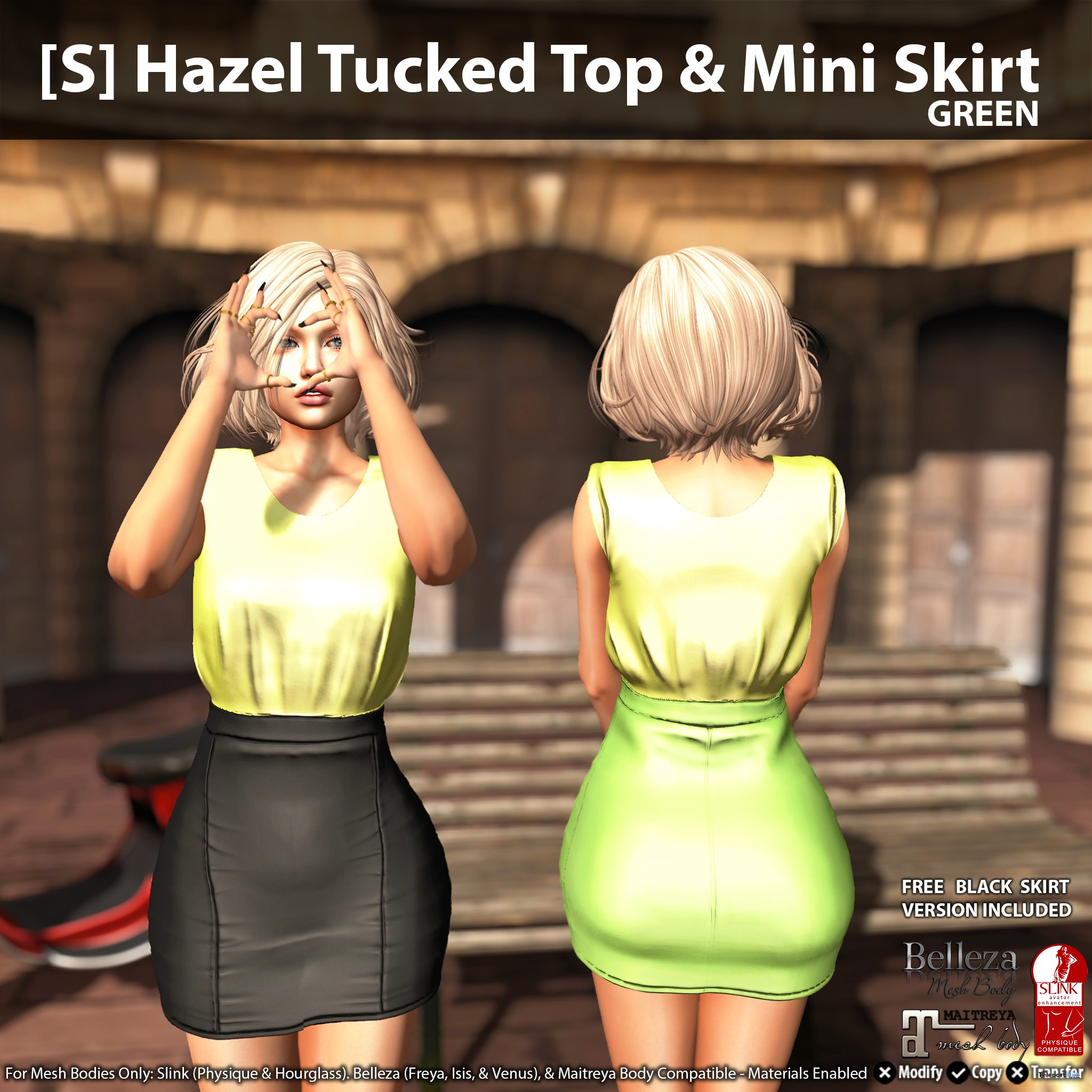 New Release: [S] Hazel Tucked Top & Mini Skirt by [satus Inc] - Teleport Hub - teleporthub.com