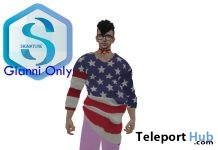 USA Independence Day Oversized Sweater July 2018 Gift by Shiro & Purrito - Teleport Hub - teleporthub.com