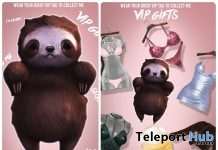 Sloth Baby & Several Outfits July 2018 Group Gift by Foxes - Teleport Hub - teleporthub.com