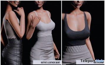 New Release: Katya Top & Leather Skirt by RKKN @ Shiny Shabby July 2018 - Teleport Hub - teleporthub.com