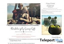 Couple Bento Pose & Fizzy Drink Dispenser July 2018 Group Gift by Andika - Teleport Hub - teleporthub.com