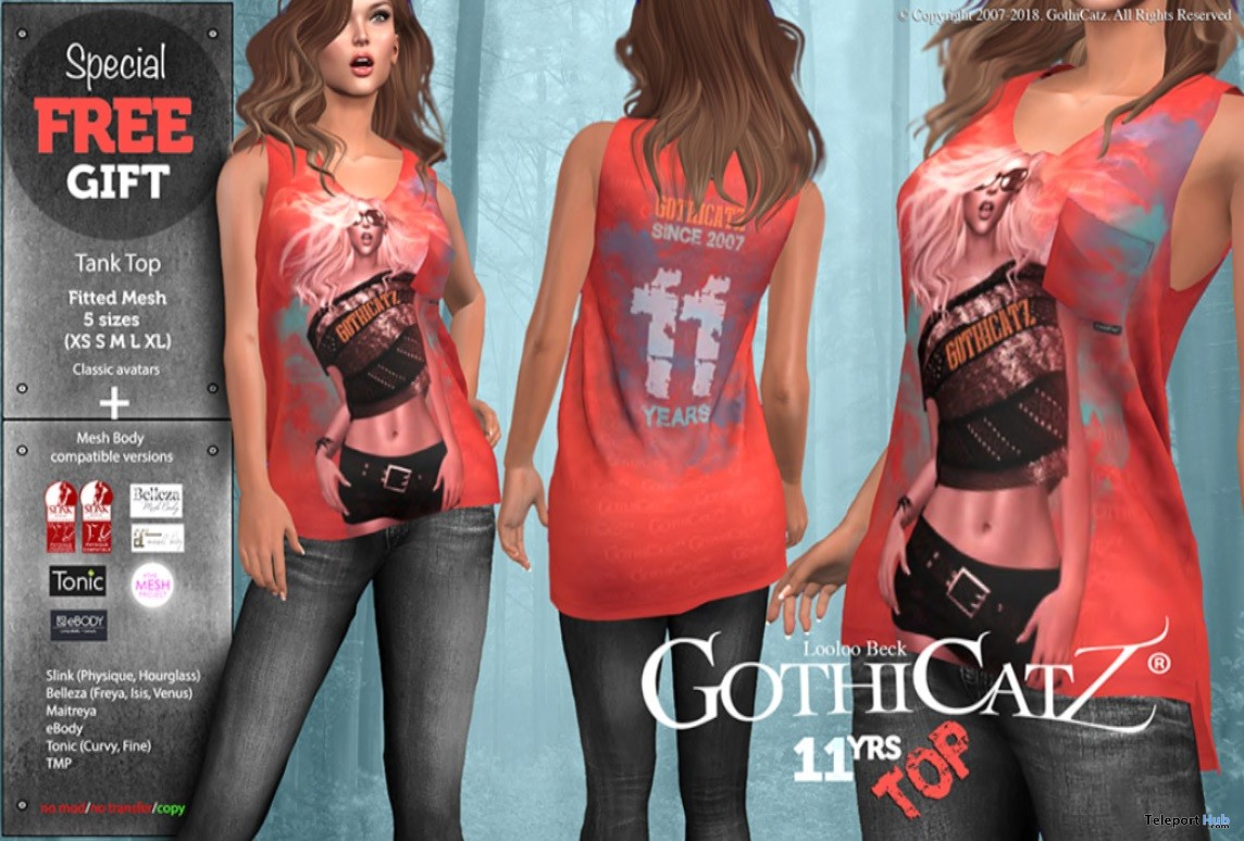 11 Years Tank Top July 2018 Gift by GothiCatz - Teleport Hub - teleporthub.com