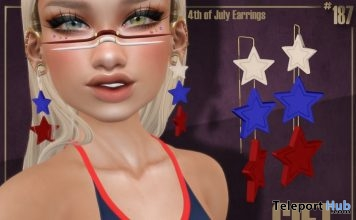 4th of July Earrings July 2018 Gift by Boutique #187# - Teleport Hub - teleporthub.com