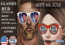 4th July 2018 Unisex Glasses Gift by Azdesign - Teleport Hub - teleporthub.com