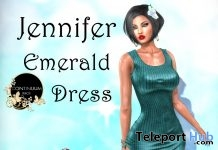Jennifer Emerald Dress 10L Promo by Continuum Fashion - Teleport Hub - teleporthub.com