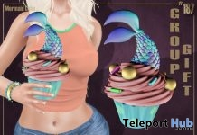 Mermaid Cake August 2018 Group Gift by Boutique #187# - Teleport Hub - teleporthub.com