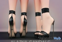 Alaina Sandals Black August 2018 Group Gift by Pure Poison - Teleport Hub - teleporthub.com