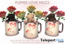 Pupper Love Mugs August 2018 Group Gift by JIAN - Teleport Hub - teleporthub.com