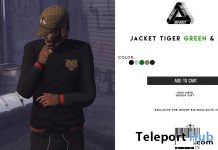 Jacket Tiger Green & Red August 2018 Group Gift by BIG BOSS - Teleport Hub - teleporthub.com