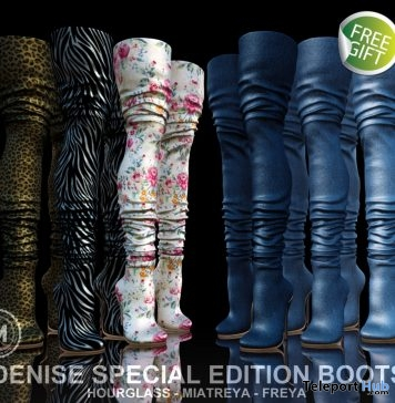 Denise Boots Special Edition August 2018 Facebook Gift by MODA - Teleport Hub - teleporthub.com