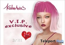 Britt Hair Exclusive Pack August 2018 Group Gift by KoKoLoReS - Teleport Hub - teleporthub.com