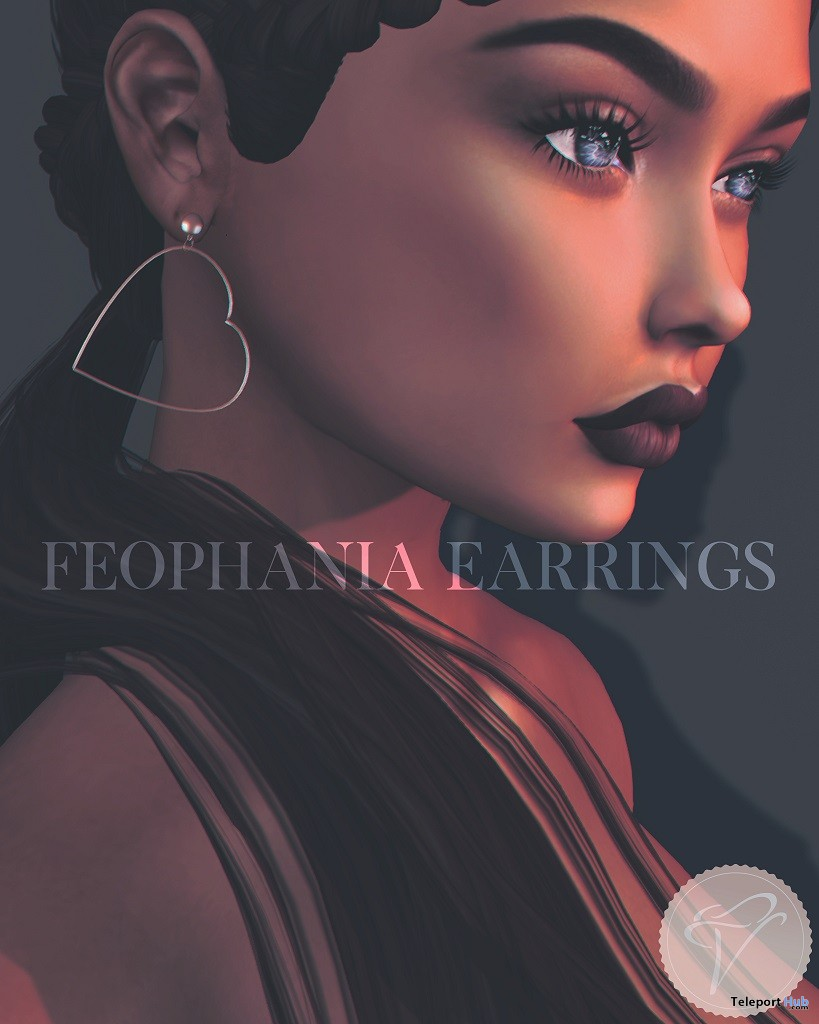 Feophania Earrings August 2018 Group Gift by VERA - Teleport Hub - teleporthub.com