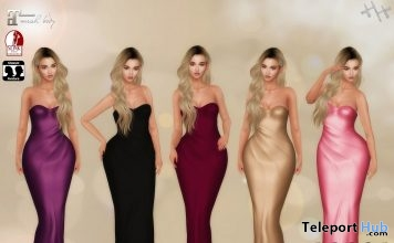 Nadia Gown August 2018 Group Gift by Hilly Haalan - Teleport Hub - teleporthub.com
