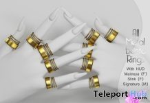 All Metal Bento Rings August 2018 Group Gift by VO.Z - Teleport Hub - teleporthub.com