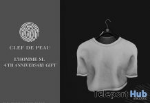 White T-Shirt L'HOMME Magazine Anniversary August 2018 Group Gift by Clef de Peau - Teleport Hub - teleporthub.com