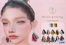 Noran Earrings August 2018 Group Gift by C'est la vie - Teleport Hub - teleporthub.com