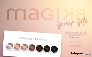 Palette Hair Color HUD September 2018 Group Gift by Magika - Teleport Hub - teleporthub.com