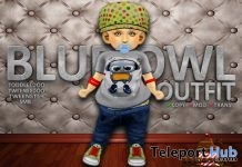 Blue Owl Outfit August 2018 Group Gift by Brigadeiro - Teleport Hub - teleporthub.com