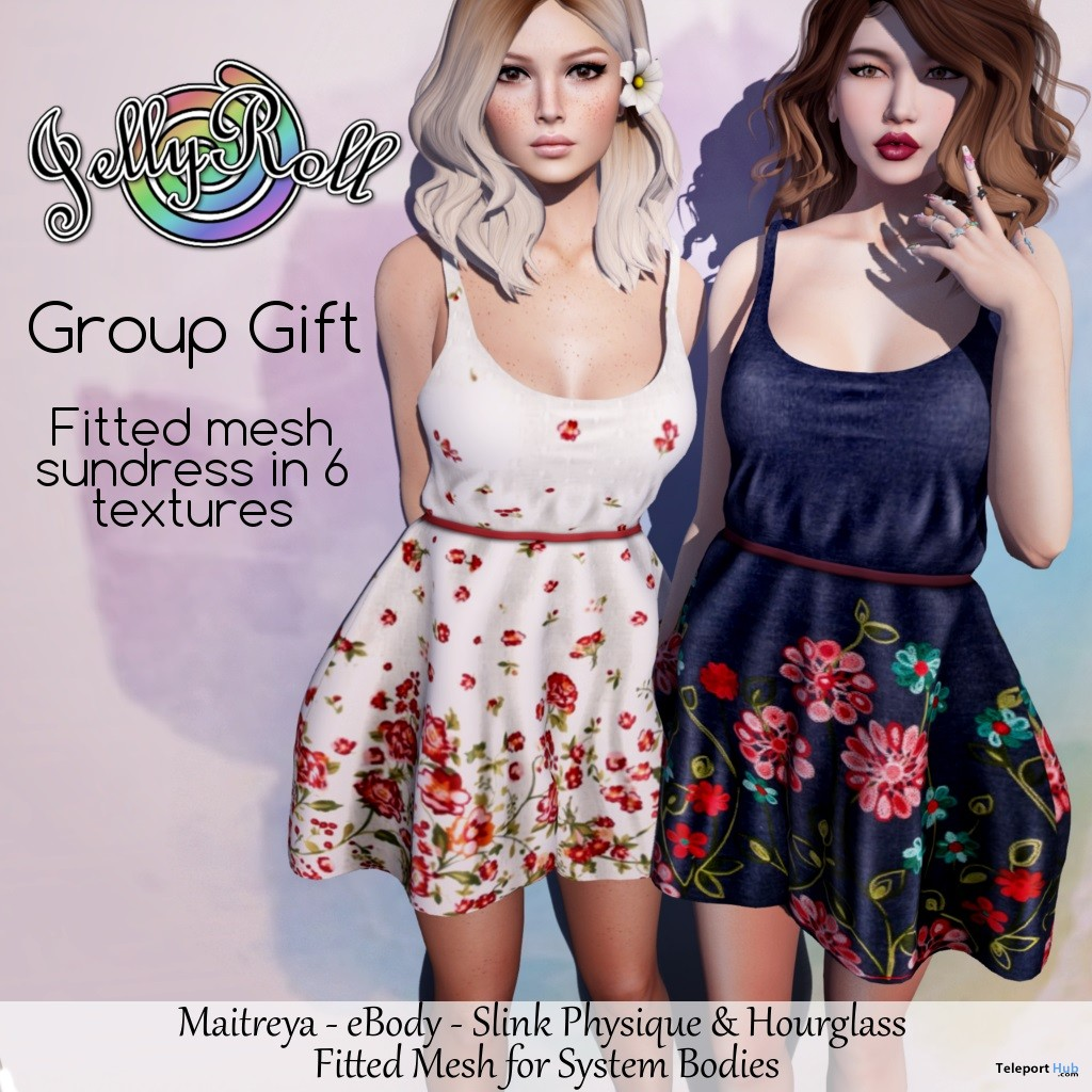 Sundress Fatpack August 2018 Group Gift by JellyRoll - Teleport Hub - teleporthub.com