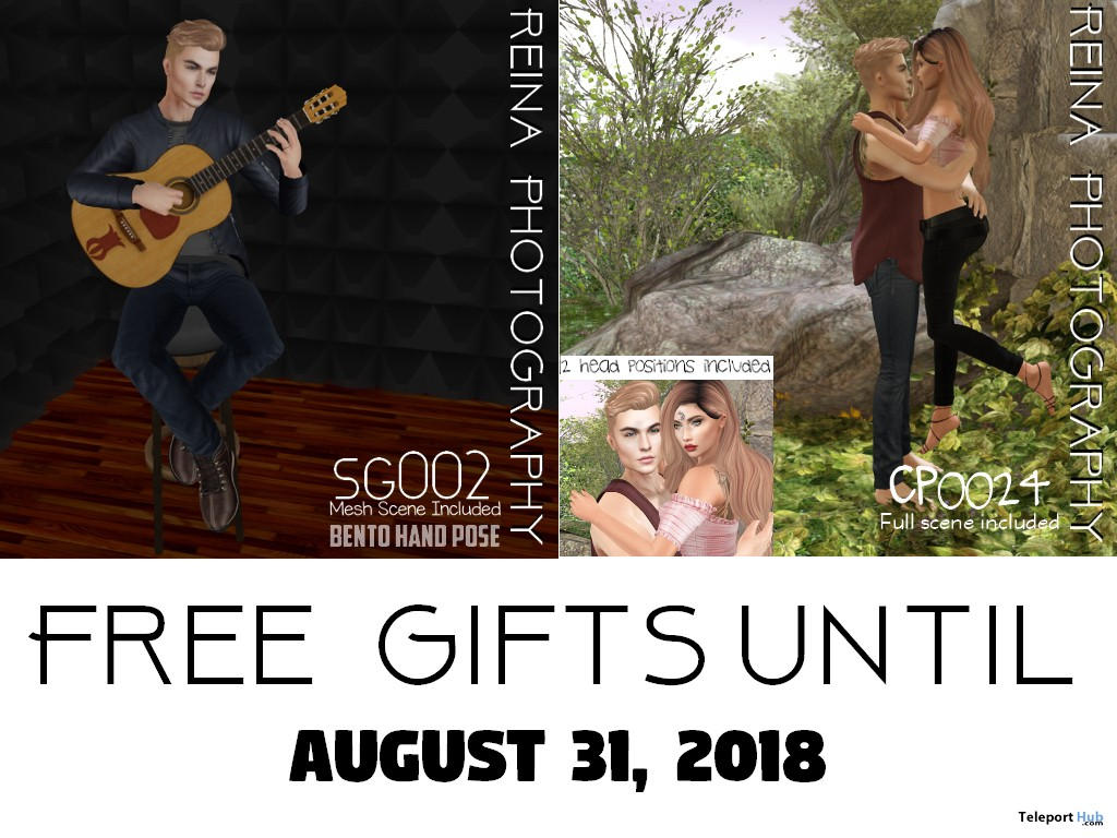 Unisex Single Pose & Couple Pose With Mesh Scene SG002 & CP0024 August 2018 Gifts by Reina Photography - Teleport Hub - teleporthub.com