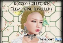 Rococo Clementine Jewellery Set August 2018 Group Gift by Chateau D'Esprit - Teleport Hub - teleporthub.com