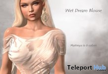 Wet Dream Blouse Fatpack August 2018 Group Gift by MIRUS Designs - Teleport Hub - teleporthub.com