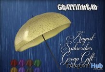 Umbrella With HUD August 2018 Subscriber Gift by Graffitiwear - Teleport Hub - teleporthub.com