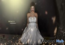 Miracle Couture Dress Silver August 2018 Group Gift by Virtual Diva Couture - Teleport Hub - teleporthub.com